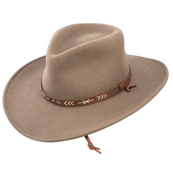 Stetson Santa Fe outdoor hat on white background