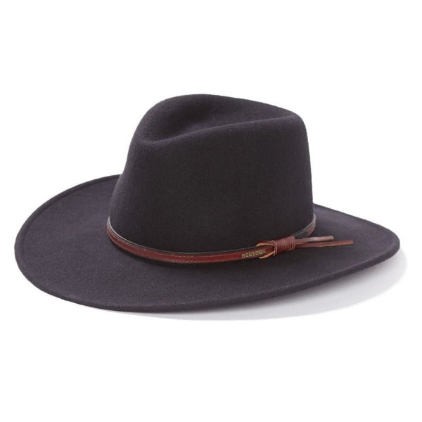 Stetson Felt Western Outdoor Hat | Bozeman | Packable | Black