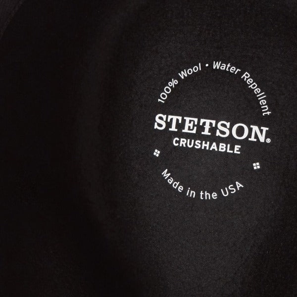 Stetson Men's Wool Crushable Western Hat - Bozeman in Black