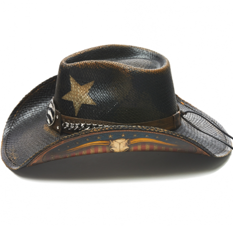 Stampede Men's Western Cowboy Hat - The Texas Longhorn Patriotic Flag