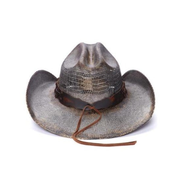 Men's Straw Cowboy Hat | Stampede | Chain Bands