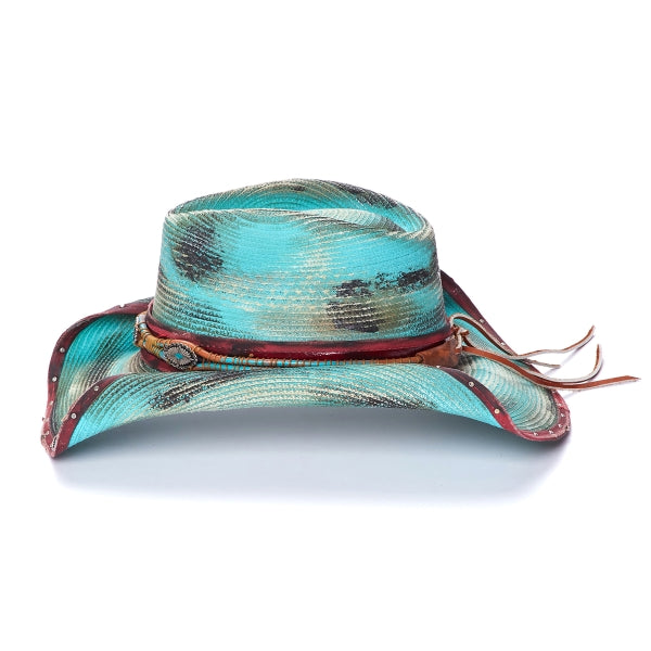 Women's Cowboy Hat | Stampede | Rolled Brim | Bluegreen
