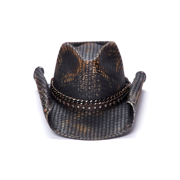 Canvas Cowboy Hat | Stampede | Rolled Brim | Black