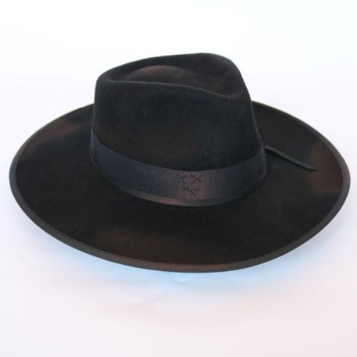 Bullhide Black Felt Western Hat - The Cavalry Charge