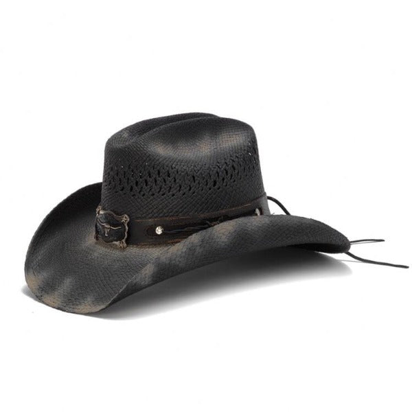 Stampede Western Straw Hat - The Angus Black