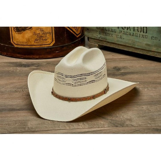 Stampede Western Vented Straw Hat- The Palomino with Cattleman Crown