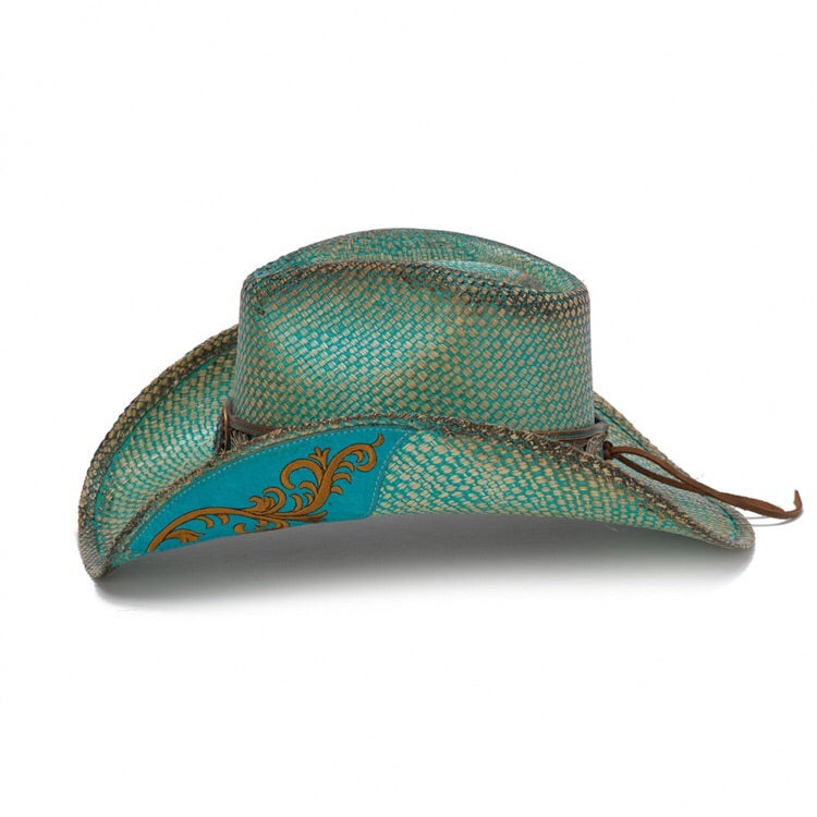 Stampede Women's Western Straw Hat - The Azure Blue