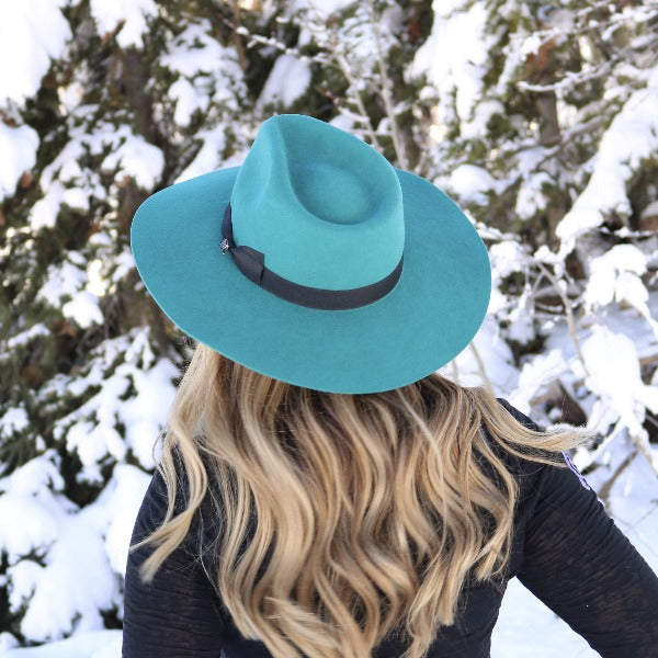 Charlie 1 Horse Women's Western Hat - Highway in Teal Wool
