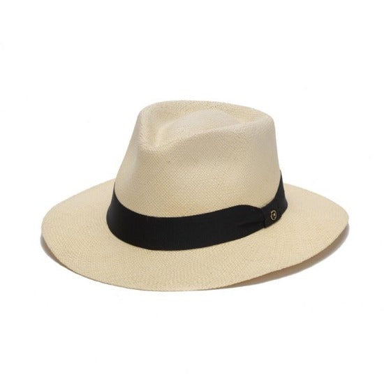 Straw Fedora Hat | Austral | Ribbon Band | Dean