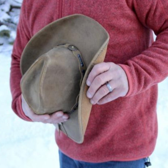 Stetson Cowboy Leather Hat | Roxbury | Brown