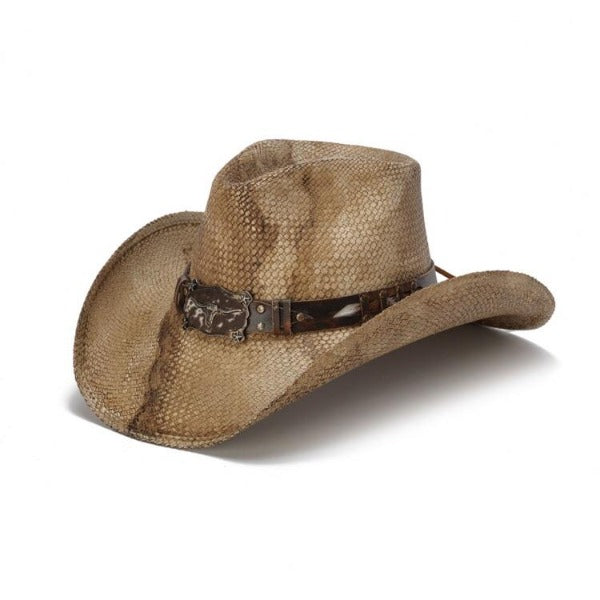 The Rattler Men's Stampede Western Straw Cowboy Hat