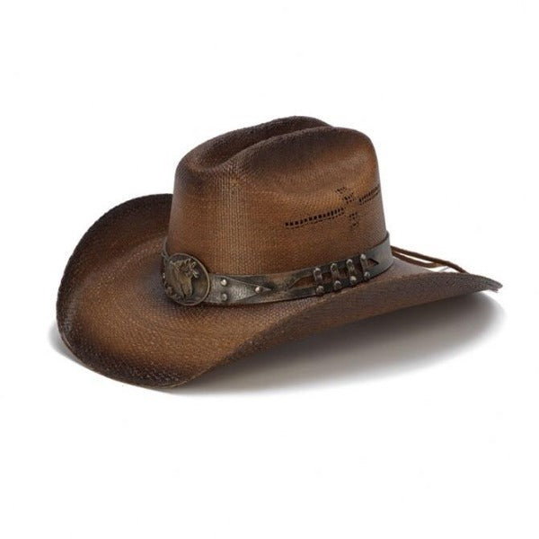 Women's Straw Cowboy Hat | Stampede | Horse Lover | Brown