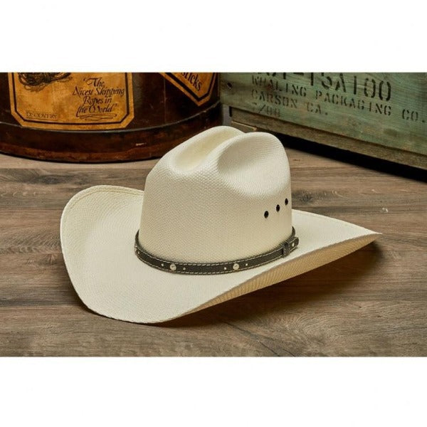 Stampede White Western Straw Hat- The Charlie