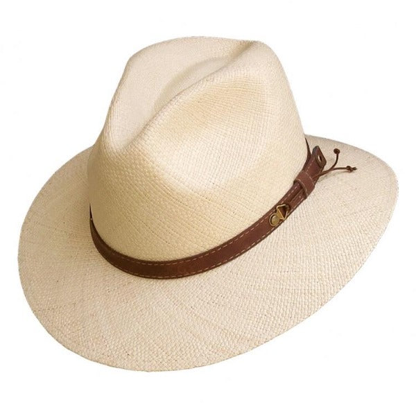 Straw Fedora Hat | Austral | Leather Band | Cody