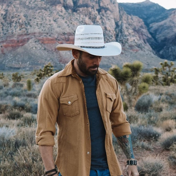 Resistol Wilshire Straw Cowboy Hat | Brick Crown