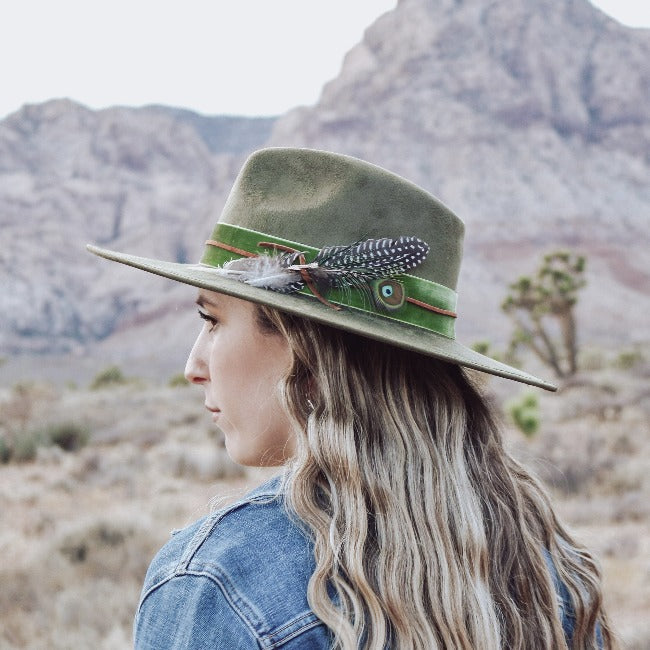 Green Rancher Fedora Hat