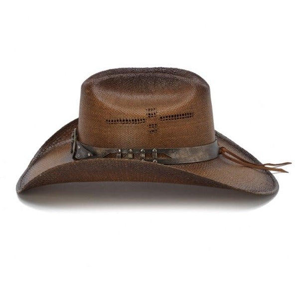 brown Stampede cowboy hat with horse concho