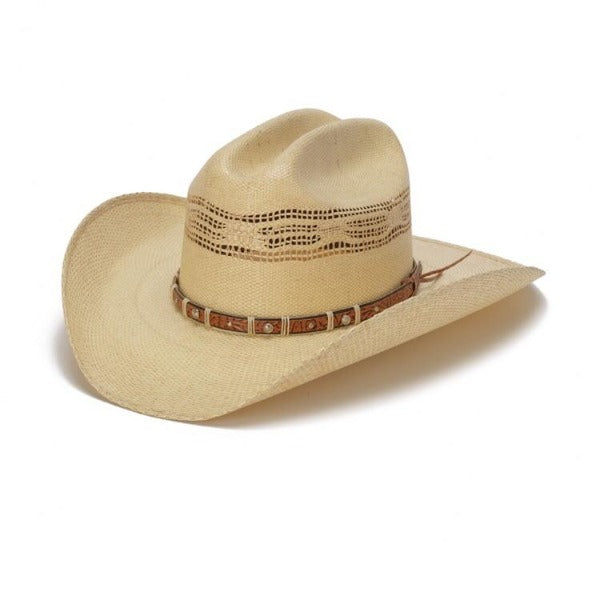Stampede Western Straw Vented Hat - The Dun in Beige with Cattleman Crown