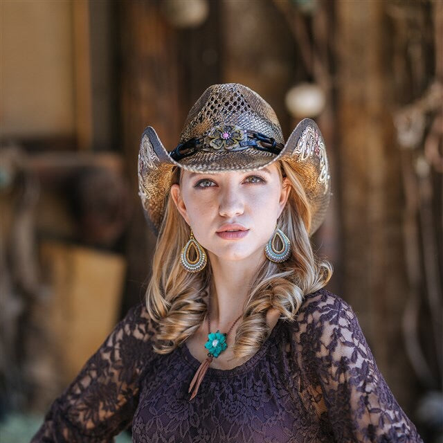 Stampede Women's Straw Western Hat - The Bittersweet
