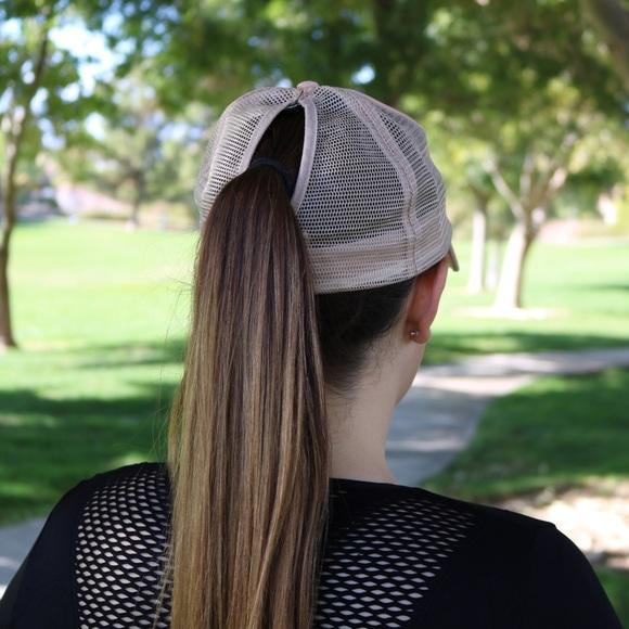 Dog Mom Mesh Ponytail Hat Pink - Willow Lane