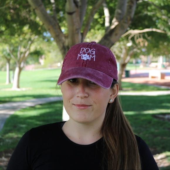 Dog Mom Burgundy Baseball Cap - Willow Lane