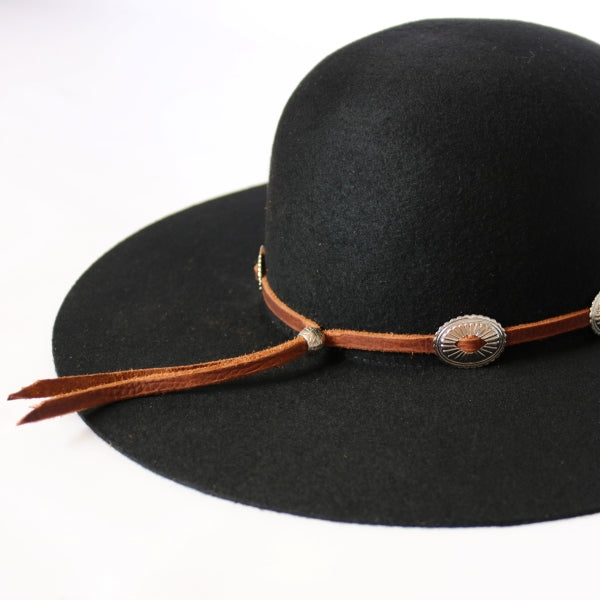 Hat Bands | Leather | Conchos