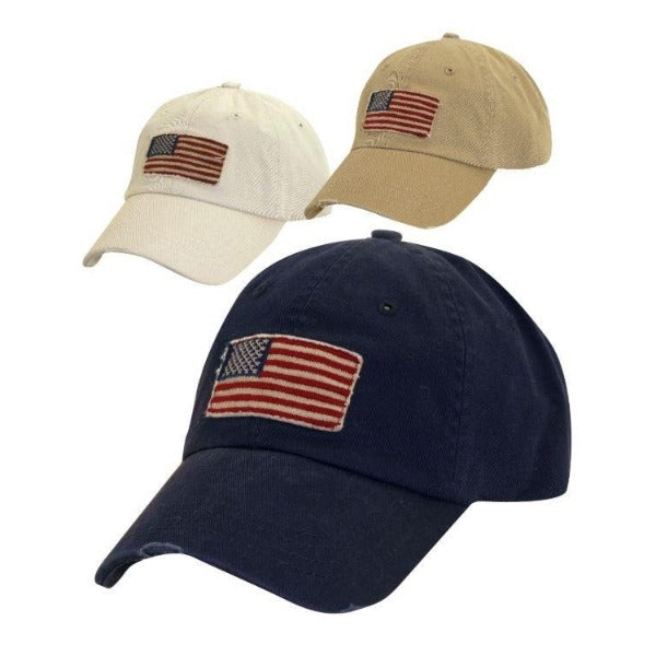 American Flag Hat | Dorfman Pacific | Waving Flag