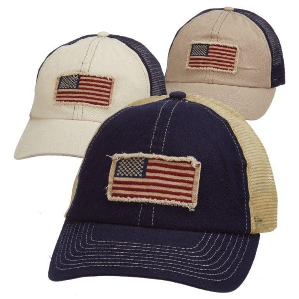 American Flag Trucker Hat | Dorfman Pacific | Liberty