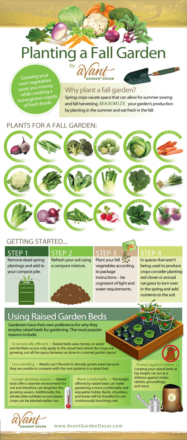 we recently came across this info graphic by avantgardendecorcom and couldnt help but share it with all of you hopefully youll find it useful - Fall Garden Plant
