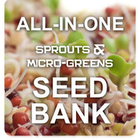 All-in-One Sprouts/Microgreens Seed Bank w/Sprouting Jar