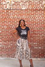 Load image into Gallery viewer, Snakeskin Midi Skirt