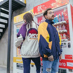 Hip hop loose baseball jacket color matching tide brand jacket - freakichic