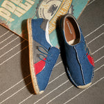 Men Patchwork Flax shoes - freakichic