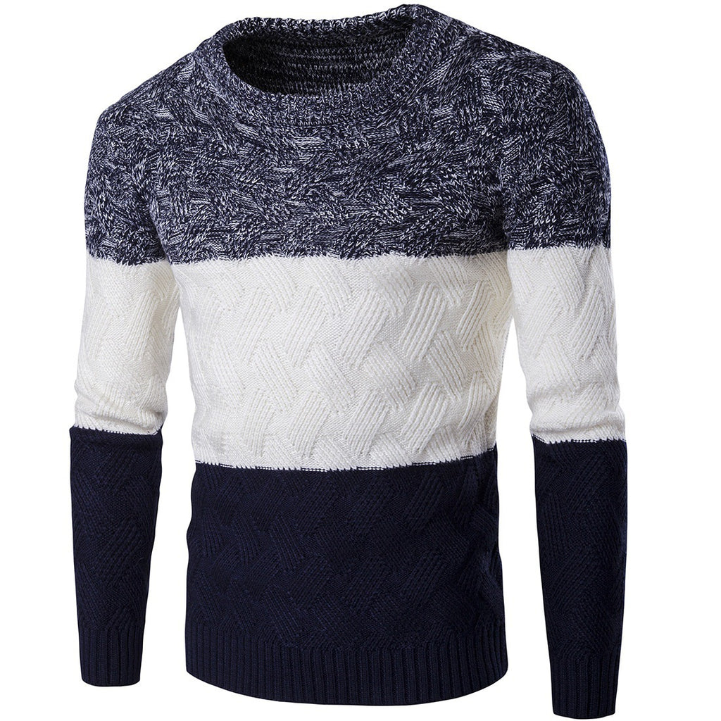 New Simple Men's Turtleneck Turtleneck Sweater Solid Color Sweater