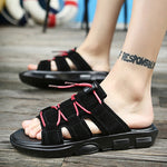 Male summer casual sandals large size beach flip flops personalized fashion sandals - freakichic