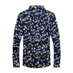 Retro Floral Printed Man Casual Shirts