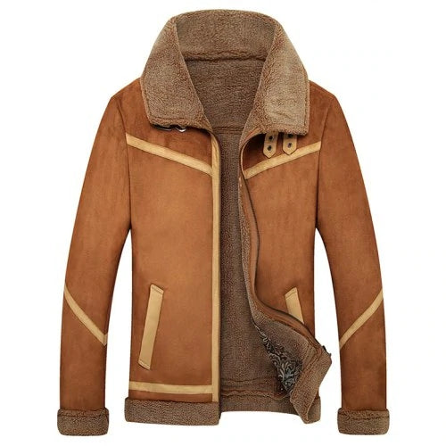 Men's Fur One Brushed Thickened Coat - freakichic