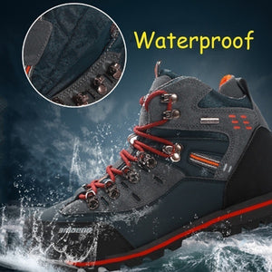 Men's Skid Resistance Hiking Shoes Waterproof Mountain Boots