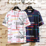 2019 new graffiti letter T-shirt - freakichic