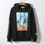 Crane crane hooded oversize hip hop sweater - freakichic