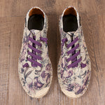 Unisex Hand Painted Canvas Casual Slip On Unique Shoes