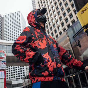 Men's Army Jacket Autumn Streetwear Hip Hop Hoodies - freakichic
