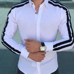 New men's pull strip fashion shirt