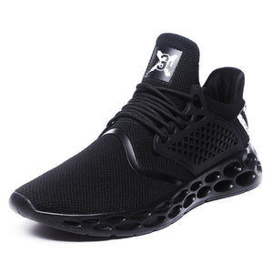 PU rubber hollow hollow super light breathable men's running shoes