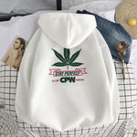 Men Leaf printed Hoodies - freakichic