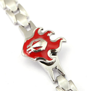 Anime Jewelry Cosplay Death BLEACH Flame Logo Men's Bracelet - freakichic