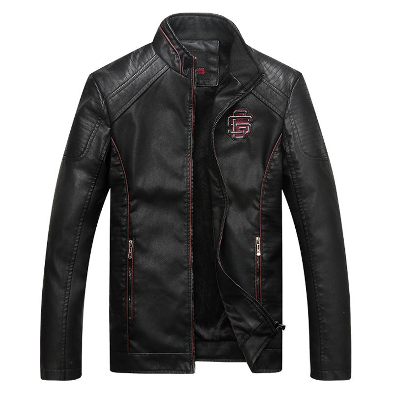 Men Leather Suede Jacket Fashion Autumn Motorcycle PU Leather Male Winter Bomber Jackets - freakichic