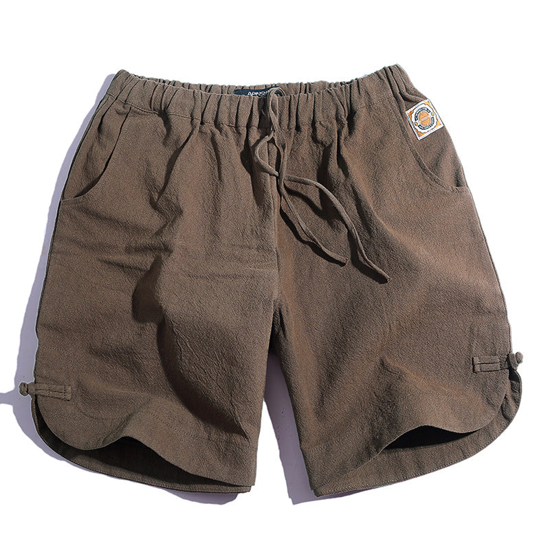 2019 summer new men's linen shorts - freakichic