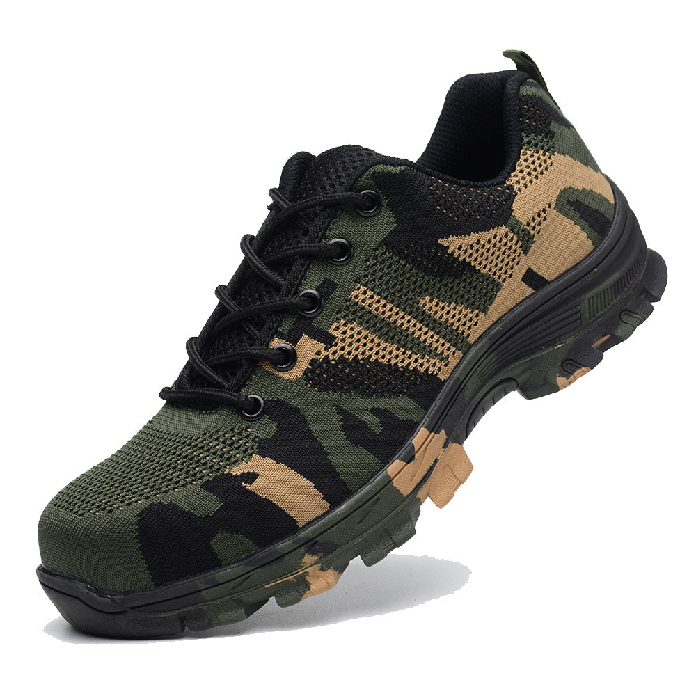 Camouflage Puncture Proof Safety Shoes - freakichic