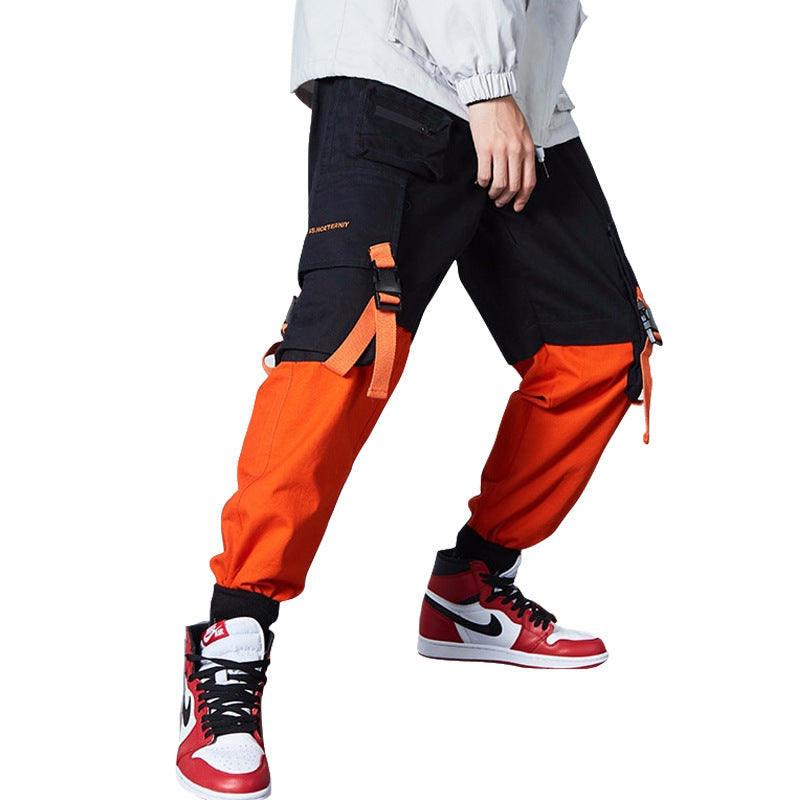 Trend nk hip-hop pocket overalls